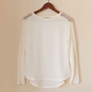 LOFT - White Long Sleeved Blouse